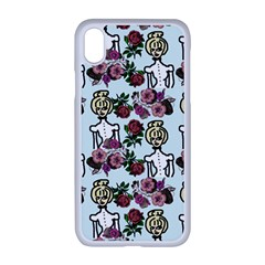 Victorian Girl Blue Apple Iphone Xr Seamless Case (white)