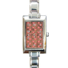 Zen Lotus Wood Wall Rectangle Italian Charm Watch