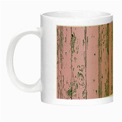 Old Pink Wood Wall Night Luminous Mugs