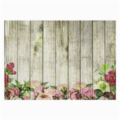 Floral Wood Wall Large Glasses Cloth (2-side)