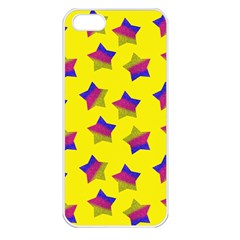 Ombre Glitter  Star Pattern Apple Iphone 5 Seamless Case (white) by snowwhitegirl