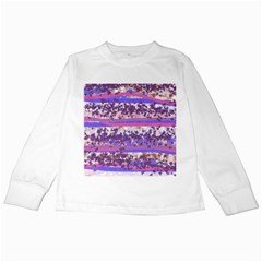 Abstract Pastel Pink Blue Kids Long Sleeve T Shirts by snowwhitegirl
