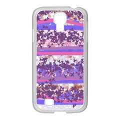 Abstract Pastel Pink Blue Samsung Galaxy S4 I9500/ I9505 Case (white)