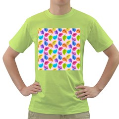 Colorful Leaves Green T Shirt