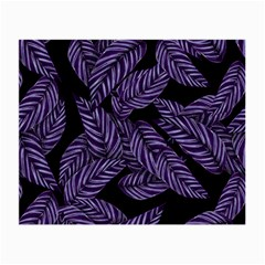 Tropical Leaves Purple Small Glasses Cloth