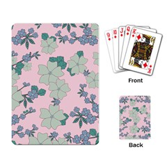 Vintage Floral Lilac Pattern Pink Playing Cards Single Design