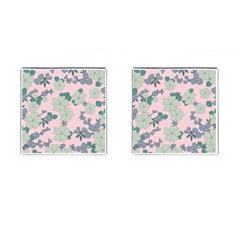 Vintage Floral Lilac Pattern Pink Cufflinks (square)