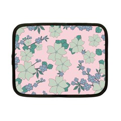 Vintage Floral Lilac Pattern Pink Netbook Case (small) by snowwhitegirl