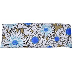 Vintage White Blue Flowers Body Pillow Case (dakimakura) by snowwhitegirl