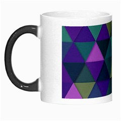Blue Geometric Morph Mugs by snowwhitegirl