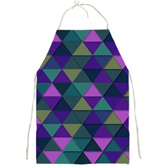 Blue Geometric Full Print Aprons