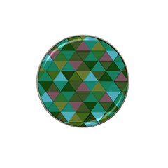 Green Geometric Hat Clip Ball Marker (4 Pack)