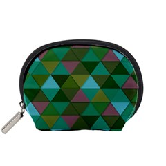 Green Geometric Accessory Pouch (small)