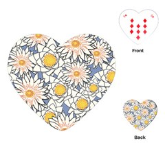 Vintage White Flowers Playing Cards (heart) by snowwhitegirl
