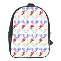 Colorful Cherubs White School Bag (xl)
