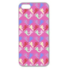 Colorful Cherubs Pink Apple Seamless Iphone 5 Case (clear) by snowwhitegirl