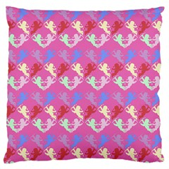 Colorful Cherubs Pink Standard Flano Cushion Case (one Side)