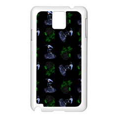 Gothic Girl Rose Black Pattern Samsung Galaxy Note 3 N9005 Case (white)