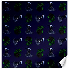 Gothic Girl Rose Blue Pattern Canvas 20  X 20