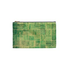 Abstract Green Tile Cosmetic Bag (small)