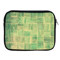 Abstract Green Tile Apple Ipad 2/3/4 Zipper Cases