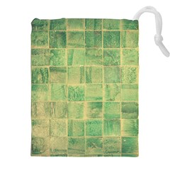 Abstract Green Tile Drawstring Pouch (xxl)