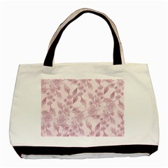 Pink Floral Basic Tote Bag (two Sides)
