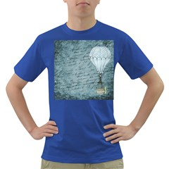 Vintage Hot Air Balloon Lettter Dark T Shirt
