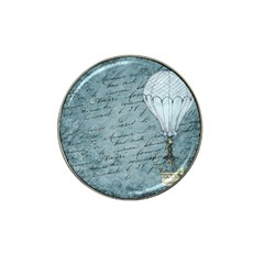 Vintage Hot Air Balloon Lettter Hat Clip Ball Marker (4 Pack) by snowwhitegirl