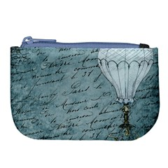 Vintage Hot Air Balloon Lettter Large Coin Purse