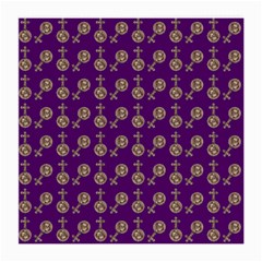 Victorian Crosses Purple Medium Glasses Cloth (2-side) by snowwhitegirl