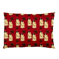 Victorian Skeleton Red Pillow Case