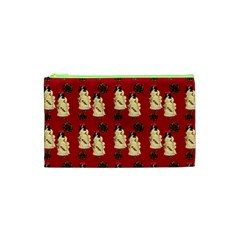 Victorian Skeleton Red Cosmetic Bag (xs)