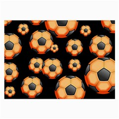 Wallpaper Ball Pattern Orange Large Glasses Cloth (2 Side) by Alisyart