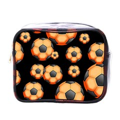 Wallpaper Ball Pattern Orange Mini Toiletries Bag (one Side)