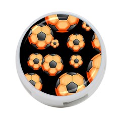 Wallpaper Ball Pattern Orange 4 Port Usb Hub (one Side)