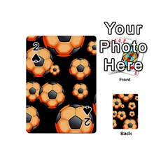 Wallpaper Ball Pattern Orange Playing Cards 54 (mini)