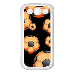 Wallpaper Ball Pattern Orange Samsung Galaxy S3 Back Case (white)
