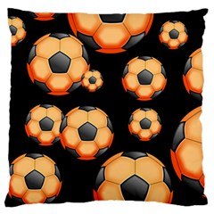 Wallpaper Ball Pattern Orange Large Flano Cushion Case (one Side)