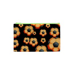 Wallpaper Ball Pattern Orange Cosmetic Bag (xs)