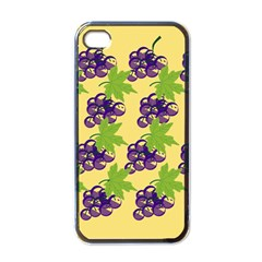 Grapes Background Sheet Leaves Apple Iphone 4 Case (black) by Jojostore