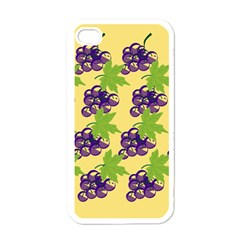 Grapes Background Sheet Leaves Apple Iphone 4 Case (white) by Jojostore