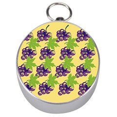 Grapes Background Sheet Leaves Silver Compasses by Jojostore