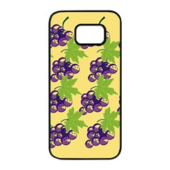 Grapes Background Sheet Leaves Samsung Galaxy S7 Edge Black Seamless Case by Jojostore