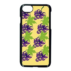 Grapes Background Sheet Leaves Apple Iphone 8 Seamless Case (black)