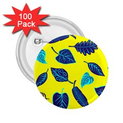 Leaves Leaf 2 25  Buttons (100 Pack)