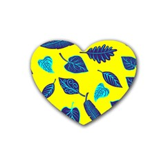 Leaves Leaf Rubber Coaster (heart)