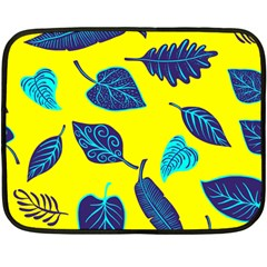 Leaves Leaf Double Sided Fleece Blanket (mini)  by Mariart