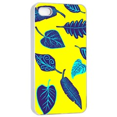 Leaves Leaf Apple Iphone 4/4s Seamless Case (white) by Mariart