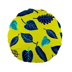 Leaves Leaf Standard 15  Premium Round Cushions